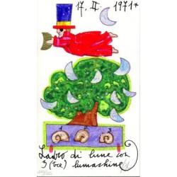 Ladro di lune con 3 (tre) lumachine Serigrafia 17x10