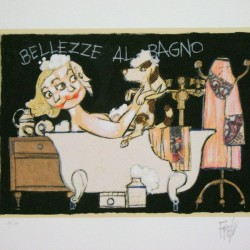 """Bellezze al bagno""35x50"